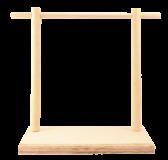 Drewniany ekspozytor