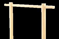 Drewniany stojaczek
