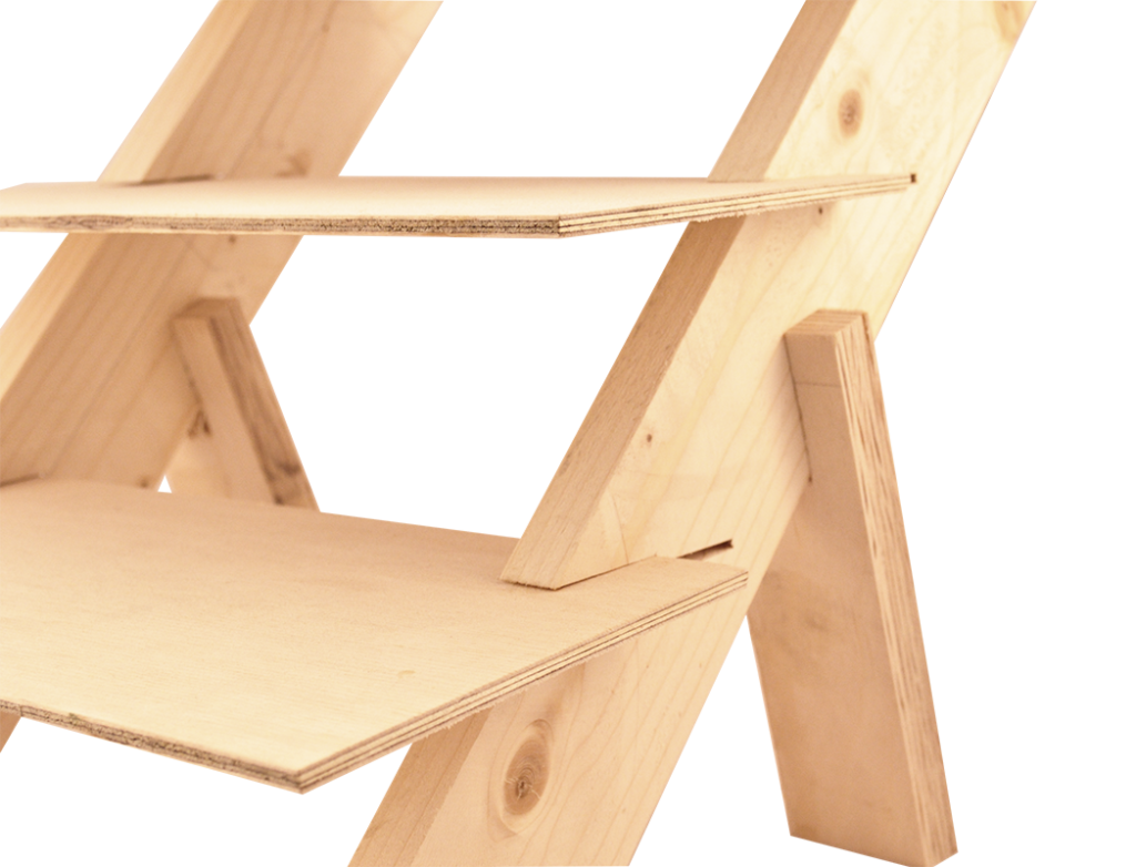 Wooden stands