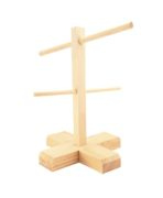 Drewniany stojak na breloczki do sklepu lub na targi